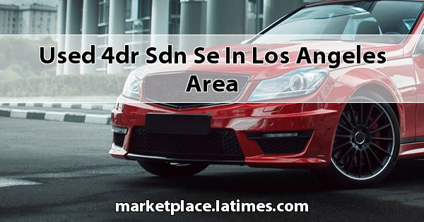Used 4dr Sdn SE in Los Angeles Area