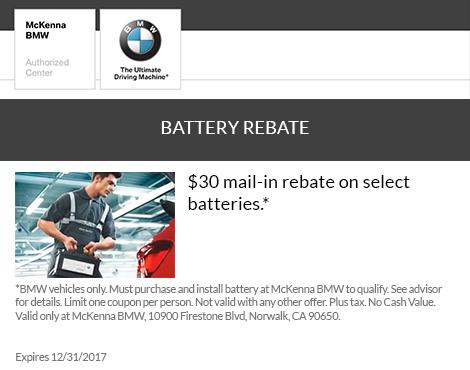 Battery Rebate
