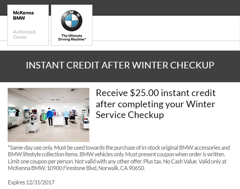 Instant Credit After Winter Checkup