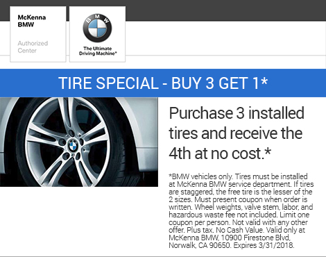 Tire Special - Buy 3 Get 1