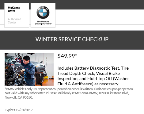 WINTER SERVICE CHECKUP